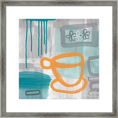 Cup Of Happiness Framed Print by Linda Woods