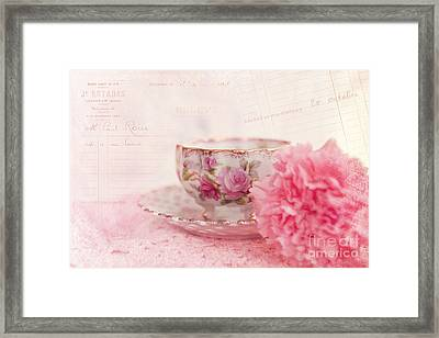 Cup Of Tea Framed Print by Kay Pickens