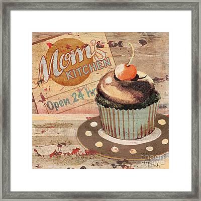Cupcake Baking Sign I Framed Print by Paul Brent