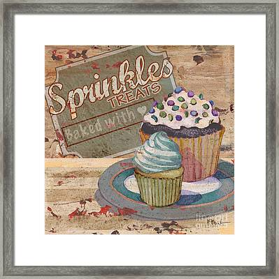 Cupcake Baking Sign IIi Framed Print by Paul Brent