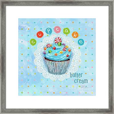 Cupcake-butter Cream Framed Print by Shari Warren