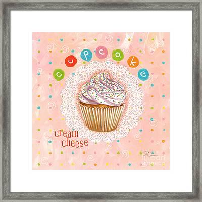 Cupcake-cream Cheese Framed Print by Shari Warren