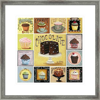 Cupcake Mosaic Framed Print by Catherine Holman