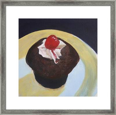 Cupcake Framed Print by Sarah Vandenbusch