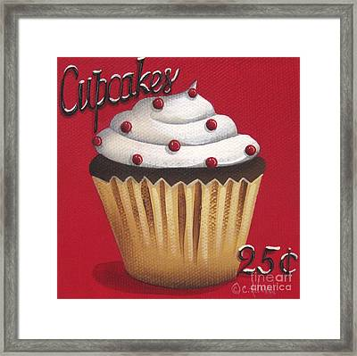 Cupcakes 25 Cents Framed Print by Catherine Holman