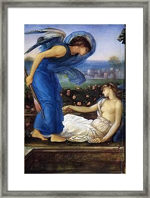 Cupid Finding Psyche Framed Print by Edward Burne Jones