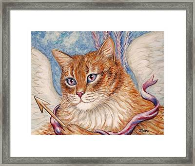 Cupid Kitty Framed Print by Linda Mears