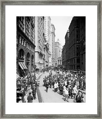 Curb Brokers Framed Print by Library Of Congress