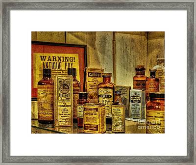 Cure Ya Or Kill Ya Framed Print by Lois Bryan