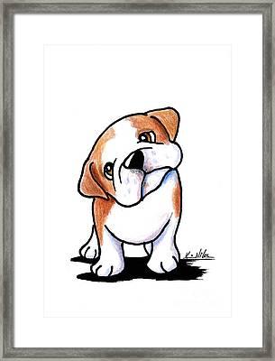 Curious Bulldog Framed Print by Kim Niles