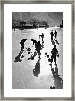Curling At St. Moritz Framed Print by Underwood Archives