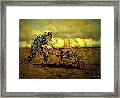 Current State Of Total Disbelief In The Evolution Of The Soul Framed Print by Paulo Zerbato