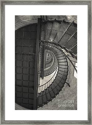 Currituck Lighthouse Stairs Framed Print by Kay Pickens
