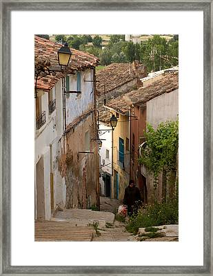 Currruca Slope Of Calahorra Framed Print by RicardMN Photography
