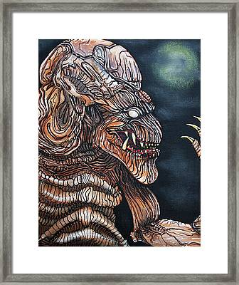 Curse Of The Demon Framed Print by Laura Barbosa