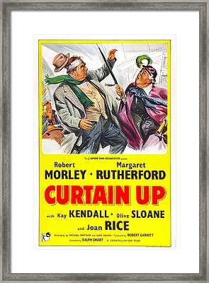 Curtain Up, Us Poster, Robert Morley Framed Print by Everett