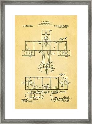 Curtiss Hydroaeroplane Patent Art 3 1922 Framed Print by Ian Monk