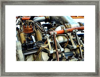 Curtiss Ox-5 Airplane Engine Framed Print by Michelle Calkins