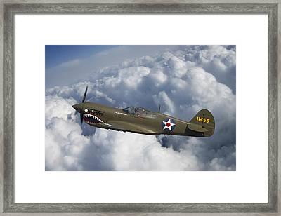 Curtiss P-40 Warhawk Flying Tigers Framed Print by Adam Romanowicz