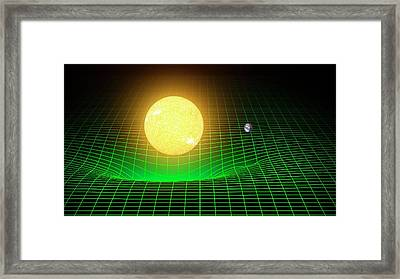 Curvature Of Spacetime Framed Print by Ligo/t.pyle
