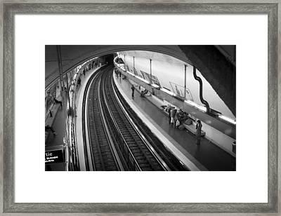 Curve Framed Print by Sebastian Musial