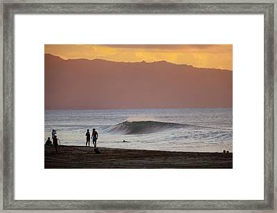 Curved Curl Framed Print by Sean Davey