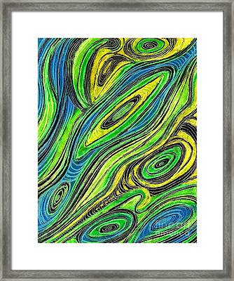Curved Lines 5 Framed Print by Sarah Loft