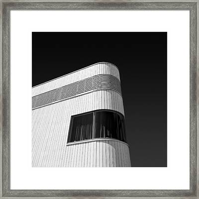 Curved Window Framed Print by Dave Bowman