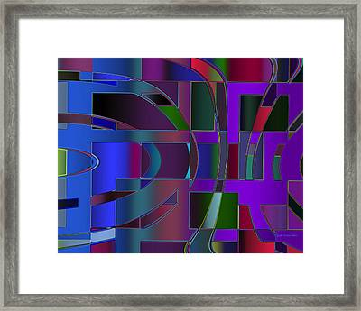 Curves And Trapezoids 2 Framed Print by Judi Suni Hall