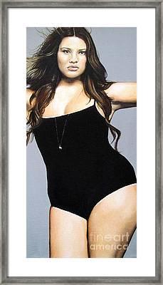 Curvy Beauties - Tara Lynn Framed Print by Malinda  Prudhomme