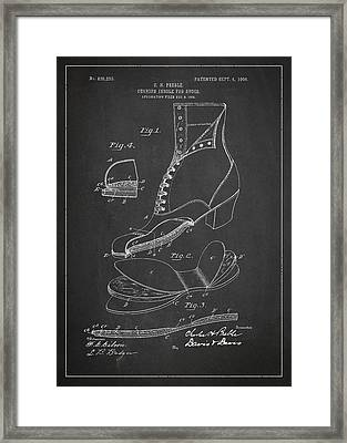 Cushion Insole For Shoes Patent Drawing From 1905 Framed Print by Aged Pixel