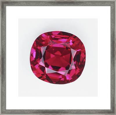 Cushion Mixed-cut Ruby Framed Print by Dorling Kindersley/uig