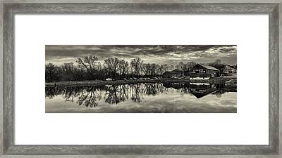 Cushwa Basin C And O Canal Black And White Framed Print by Joshua House