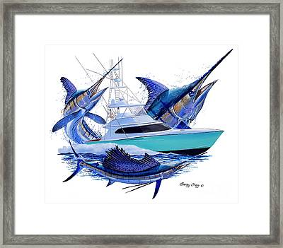 Custom Boat Shootout Framed Print by Carey Chen