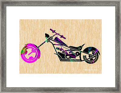 Custom Chopper Motorcycle Framed Print by Marvin Blaine