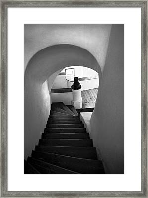 Custom Stairs To Heaven-dracula's Castle  Framed Print by Dorin Stef