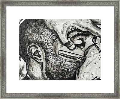 Cut Close And Personal Framed Print by Charles Edwards
