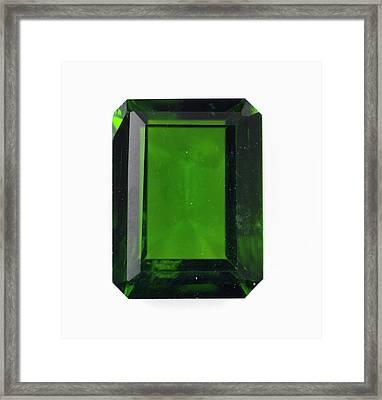 Cut Diopside Gemstone Framed Print by Dorling Kindersley/uig