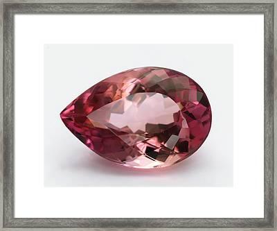 Cut Pink Topaz Gemstone Framed Print by Dorling Kindersley/uig