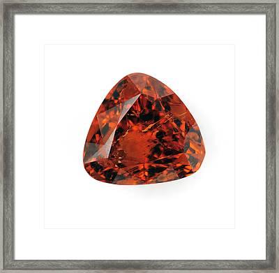 Cut Spessartine Gemstone Framed Print by Dorling Kindersley/uig