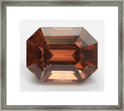 Cut Zircon Gemstone Framed Print by Dorling Kindersley/uig