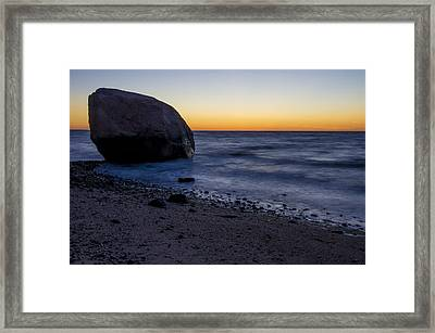 Cutchouge Ny Sunset Framed Print by Tom Wilder