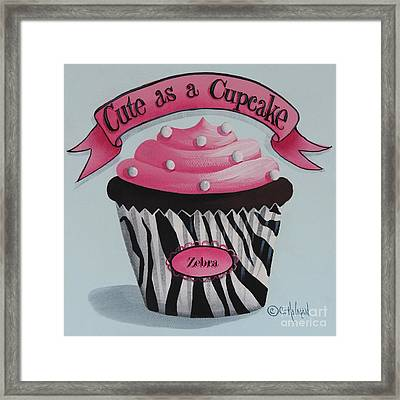 Cute As A Cupcake Framed Print by Catherine Holman