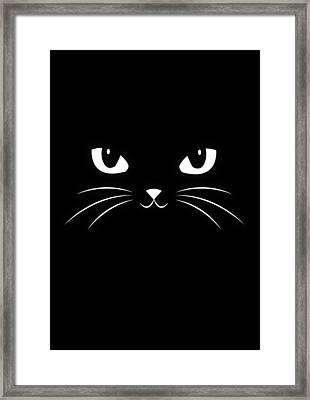Cute Black Cat Framed Print by Philipp Rietz