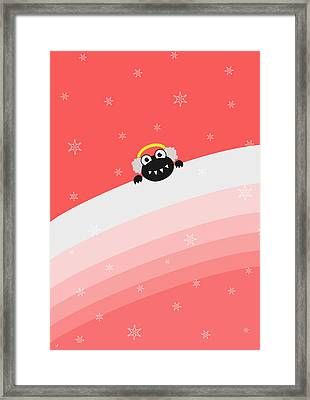 Cute Bug With Earflaps Framed Print by Boriana Giormova