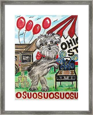 Osu Tailgating Dog Framed Print by Diane Pape