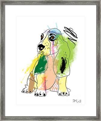 Cute Dog 2 Framed Print by Mark Ashkenazi