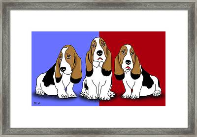 Cute Dogs 2 Framed Print by Mark Ashkenazi