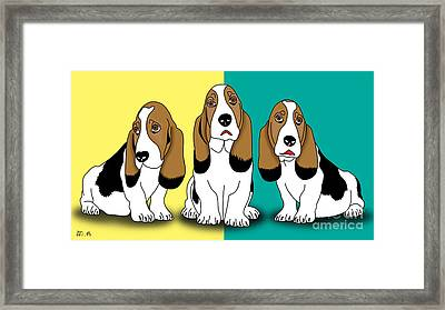 Cute Dogs  Framed Print by Mark Ashkenazi