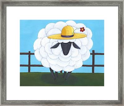 Cute Sheep Nursery Art Framed Print by Christy Beckwith